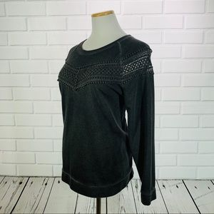 a.n.a Dark Gray Crew Neck Sweater - Size Large